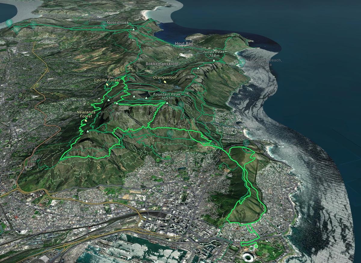 Cape Town Marathon Trail Route